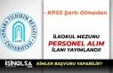 İŞKUR'da Üniversiteye KPSS'siz İlkokul...