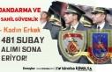 Jandarma ve Sahil Güvenlik 481 Subay ( Askeri Personel...