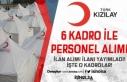 Kızılay 29 Ocak 2020 Tarihli 6 Kadro İçin Personel...