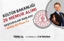 Kültür Bakanlığı 60 KPSS Puanı İle 26 Memur...