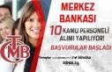 Merkez Bankasına 10 Kişilik Memur Alımı Başvuruları...