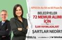 3 Belediye KPSS En Az 50 ve 60 Puan İle 72 Memur...