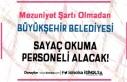 Büyükşehir Belediyesi Sayaç Okuma Elemanı Alım...