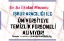 Gaziantep Üniversitesi İŞKUR Üzerinde 8 Temizlik...