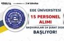 İŞKUR İle Ege Üniversitesi 15 Personel Alacak!...