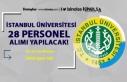 İstanbul Üniversitesi Cerrahpaşa 28 Personel Alım...