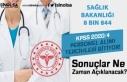 KPSS 2020/4 Sağlık Bakanlığı 8 Bin 844 Personel...