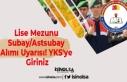 Lise Mezunu Subay/Astsubay Alımı Uyarısı! YKS'ye...
