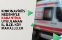 30 Mart Tarihi İtibari ile Karantina Uygulanan İlçe,...