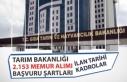 Tarım Bakanlığı 2153 Memur Alımı Başvuru Şartı,...