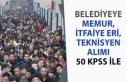 Belediye Başkanlığına 50 KPSS ile İtfaiye, Memur...