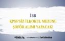 İBB İlkokul Mezunu KPSS'siz Şoför Alımı...