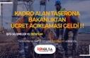 Kadro Alan Taşerona Bakanlıktan Ücret Açıklaması...