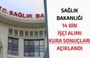 Sağlık Bakanlığı İŞKUR 14 Bin İşçi Alımı...