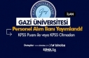 Gazi Üniversitesi Yüksek Maaş İle Sözleşmeli...
