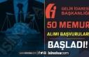 GİB 18 Farklı İlde 50 Memur Alımı Başvuru Ekranı...