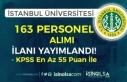 İstanbul Üniversitesi KPSS 55 Puan İle 163 Personel...