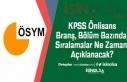 KPSS Önlisans Branş, Bölüm Bazında Sıralamalar...