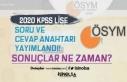ÖSYM 2020 KPSS Lise Sınav Soru ve Cevap Anahtarı...