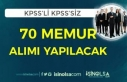 RTÜK ve Dışişleri Bakanlığı 70 Memur Alımı...
