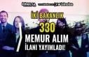 İki Bakanlık ( Maliye ve Ticaret ) 330 Memur Alımı...