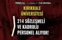 Kırıkkale Üniversitesi 214 Sağlık Personeli ve...