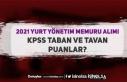 2021 Yılı Yurt Yönetim Memuru KPSS Taban ve Taban...