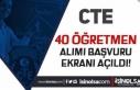 Adalet Bakanlığı CTE 40 Öğretmen Alımı Başvuru...