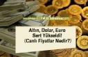 Altın, Dolar, Euro Sert Yükseldi! (Canlı Fiyatlar...