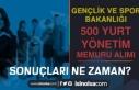 GSB 2021 Yılı 500 Yurt Yönetim Memuru Alımı Sonuçları...
