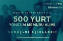 GSB 500 Yurt Yönetim Memuru Alımı Sonuçları Açıklandı!...