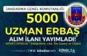 Jandarma 2021 Yılı 5000 Sözleşmeli Uzman Erbaş...