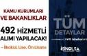 Kamu Kurumları ve Bakanlıklar 492 Hizmetli Alımı...