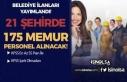 KPSS En Az 55 Puan ve KPSS Siz 21 Belediye 175 Personel...