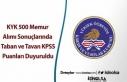 KYK 500 Memur Alımı Sonuçlarında KPSS Taban ve...