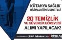 Lise Mezunu İŞKUR Aracılığı İle KSBÜ 20 Temizlik...