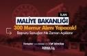 Maliye Bakanlığı 300 Defterdarlık Uzman Yardımcısı...