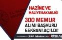 Maliye Bakanlığı 76 Şehirde 300 Memur Alımı...