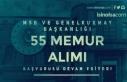 MSB ve Genelkurmay Başkanlığı 55 Memur Alımı...