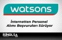 Watsons Kozmetik İnternetten Personel Alımı Başvuruları...