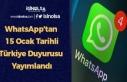 WhatsApp'tan 15 Ocak Tarihli Türkiye Duyurusu...