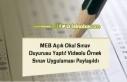 MEB Açık OkulSınav Duyurusu Yaptı! Videolu Örnek...