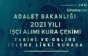 Adalet Bakanlığı 2021 Yılı İşçi Alımı Kura...