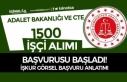 Adalet Bakanlığı ve CTE İŞKUR İle 1500 İşçi...