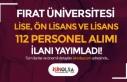 Fırat Üniversitesi 112 Sözleşmeli Sağlık Personeli...