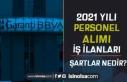 Garanti BBVA 2021 Yılı Personel Alımı İş İlanları...