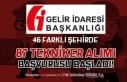 Gelir İdaresi Başkanlığı ( GİB ) 87 Tekniker...
