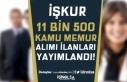 İŞKUR 11 Bin 500 Kamu Memur Alımı İlanı Yayımladı!...