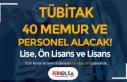 Lise, Ön Lisans ve Lisan: TÜBİTAK 40 Personel ve...