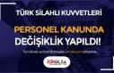 TSK Personel Kanunu ile Bazı Kanunlarda Değişiklik...